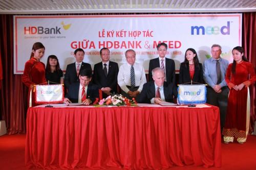 HDBank và Meed hợp tác kinh doanh sản phẩm tài khoản thanh toán toàn cầu
