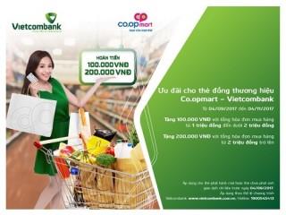 Ưu đãi hấp dẫn cho chủ thẻ Vietcombank tại hệ thống Co.opmart và Fivimart