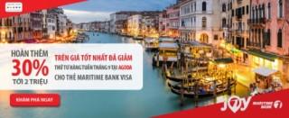 Hoàn tiền cho chủ thẻ Maritime Bank Visa tại Agoda
