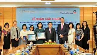 VietinBank nhận cú đúp giải thưởng của JPMorgan Chase Bank