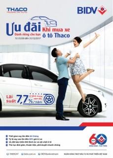 Mua xe với lãi suất ưu đãi chỉ từ 7,7%/năm tại Thaco