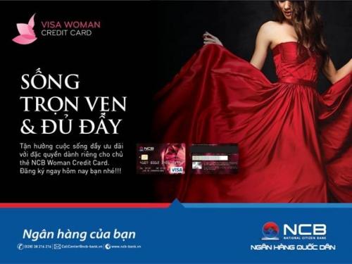 Mua sắm thả ga với thẻ tín dụng NCB Visa Woman credit card