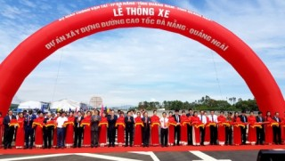 Thông xe toàn tuyến cao tốc Đà Nẵng - Quảng Ngãi