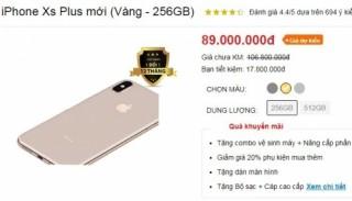 iPhone XS Max bất ngờ được dân buôn trong nước hét giá 89 triệu đồng