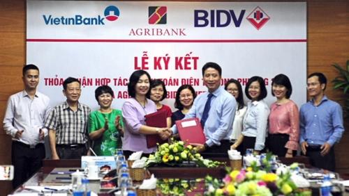 VietinBank, Agribank và BIDV ký hợp tác song phương thanh toán điện tử 24/7