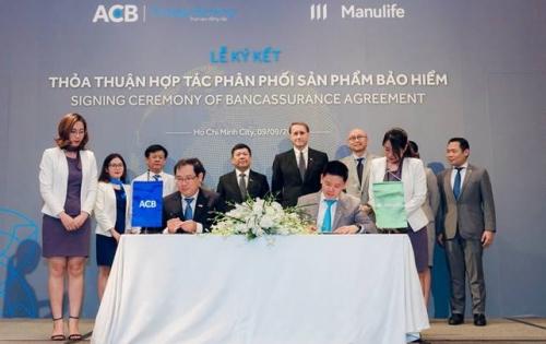 Manulife đẩy mạnh doanh thu bancassurance với sự đồng hành của ACB