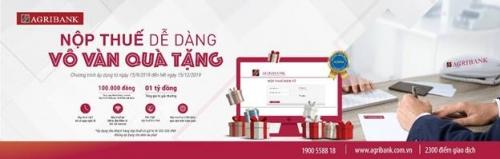 """""""Nộp thuế dễ dàng – Vô vàn quà tặng"""" tại Agribank"""