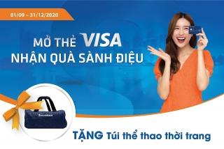 Mở thẻ tín dụng Sacombank Visa nhận ngay túi thể thao thời trang