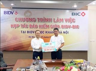 BIC chi trả tiền bồi thường tổn thất cho BIDV Ngọc Khánh Hà Nội