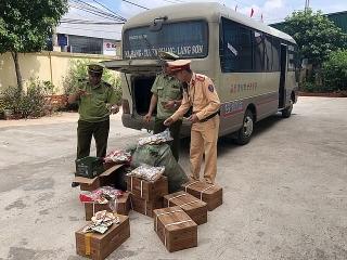 Lạng Sơn: Phát hiện 2.000 chân gà nhập lậu