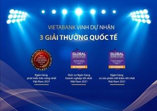 VietABank liên tiếp đón nhận giải thưởng quốc tế uy tín
