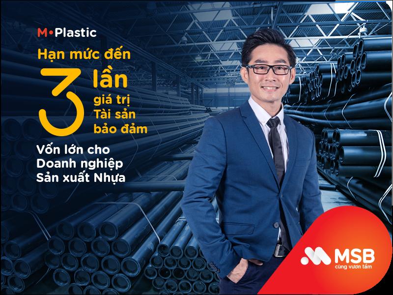 MSB ưu đãi doanh nghiệp ngành sản xuất nhựa