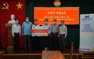 Sovico và HDBank tiếp tục tặng xe cứu thương, máy thở và thiết bị y tế cho tỉnh An Giang