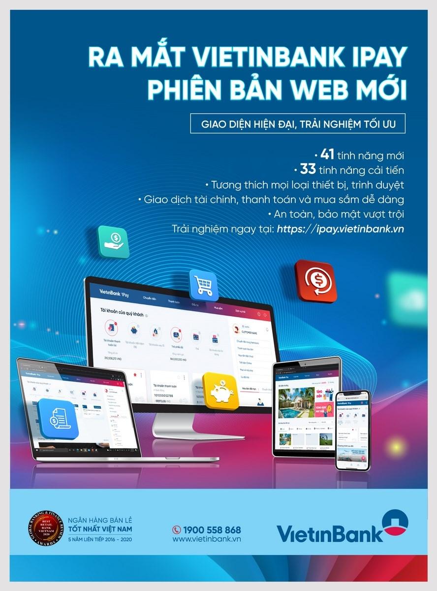 trai nghiem hoan hao voi vietinbank ipay phien ban web moi