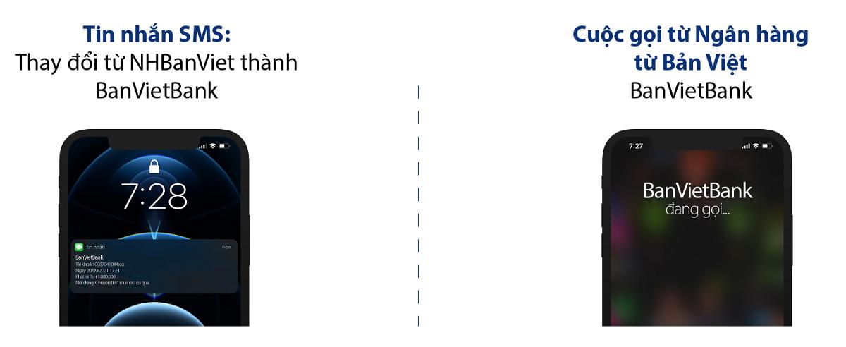 Bản Việt triển khai việc hiển thị tên ngân hàng khi gọi đến khách hàng