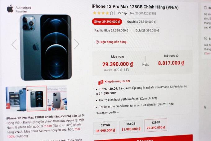 iphone the he cu giam gia 4 trieu dong