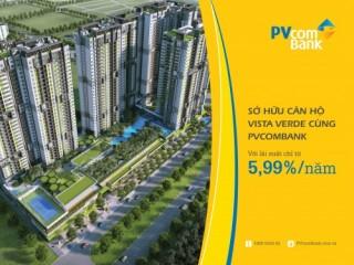 PVcomBank cho vay ưu đãi mua nhà Dự án Krista và Vista Verde