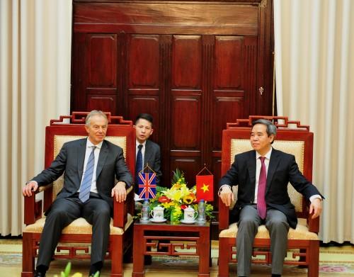 Ông Tony Blair đánh giá cao kết quả cải cách ngân hàng của Việt Nam