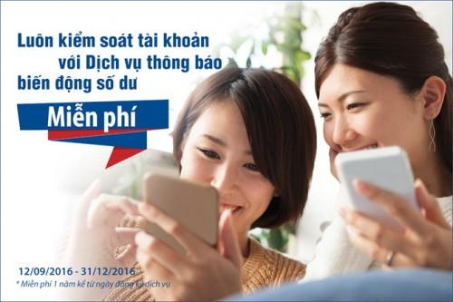 Viet Capital Bank miễn 1 năm phí dịch vụ thông báo biến động số dư