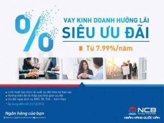 NCB ưu đãi lãi suất hấp dẫn cho khách hàng vay