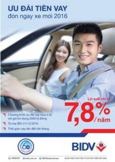 BIDV mở rộng chương trình cho vay mua ô tô với quy mô tới 2.000 tỷ đồng