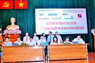 7 NH tài trợ hơn 800 tỷ đồng cho các DN quận Bình Thạnh (TP.HCM)