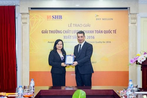 SHB lần thứ 7 nhận giải thưởng thanh toán quốc tế xuất sắc
