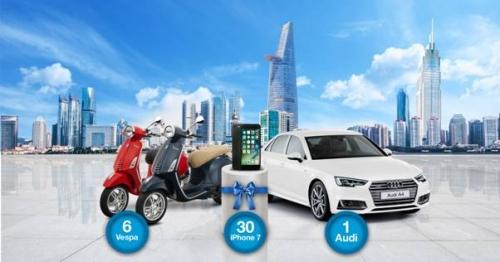 Thêm 12 khách hàng trúng xe máy Vespa và iPhone 7