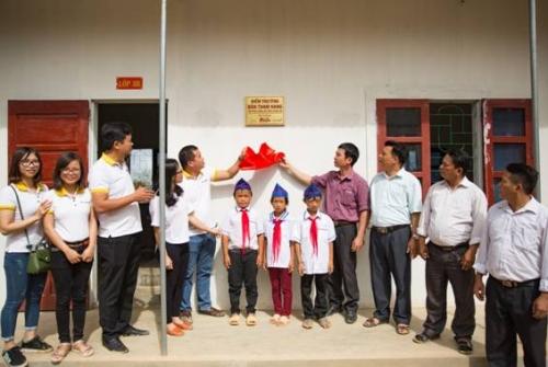 BAC A BANK xây trường cho học sinh vùng núi cao Nghệ An