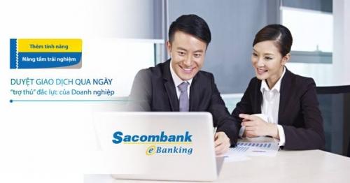 Trải nghiệm thêm tính năng cùng Sacombank ebanking