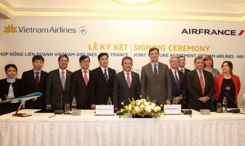 Vietnam Airlines và Air France ký Hợp đồng liên doanh hợp tác toàn diện