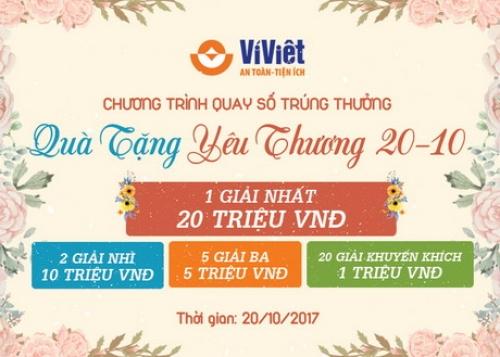 Ví Việt trao quà tặng yêu thương nhân dịp 20/10