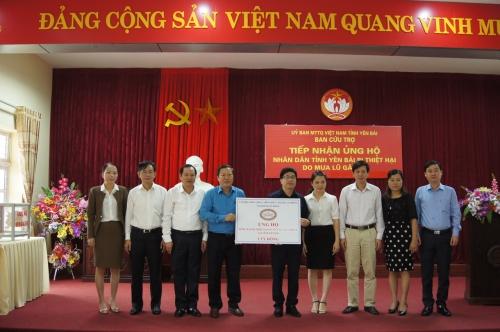 Công đoàn Ngân hàng Việt Nam thăm và ủng hộ đồng bào Yên Bái