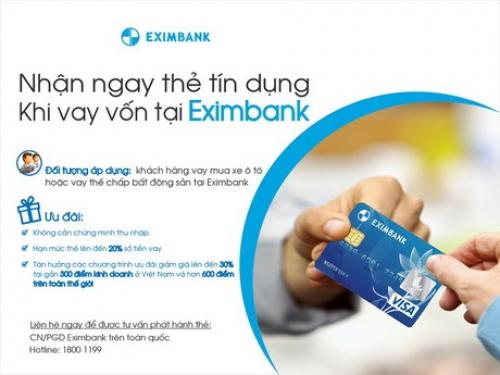 Nhận ngay thẻ tín dụng khi vay vốn tại Eximbank