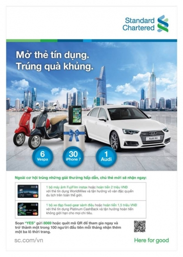 Standard Chartered Việt Nam: Tìm ra khách hàng may mắn trúng xe Audi
