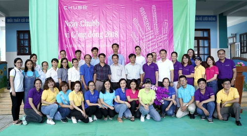 """Tập đoàn Chubb tổ chức """"Ngày Chubb vì cộng đồng 2018"""" tại Việt Nam"""