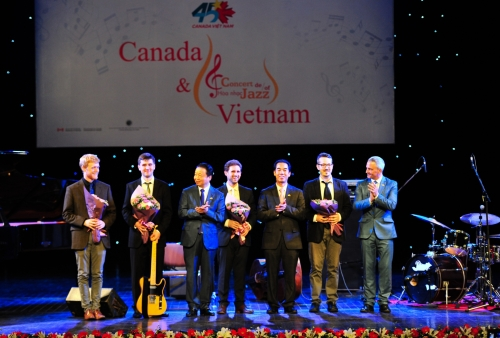 Hòa nhạc Jazz kỷ niệm 45 năm thiết lập quan hệ ngoại giao Canada – Việt Nam