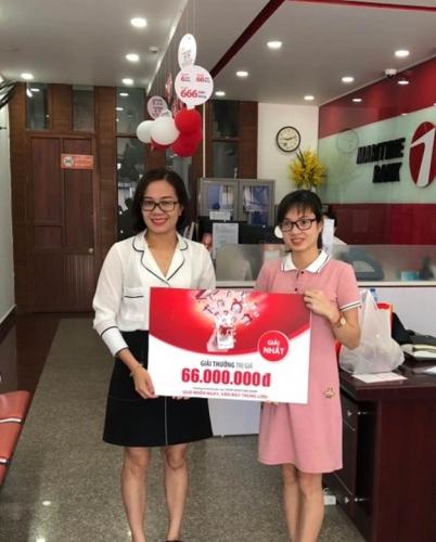 Giải tháng 66 triệu đồng từ Maritime Bank