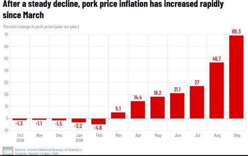 Dịch tả lợn đang tấn công người tiêu dùng Trung Quốc