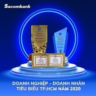 """Sacombank được vinh danh """"doanh nghiệp tiêu biểu TP.HCM năm 2020"""""""
