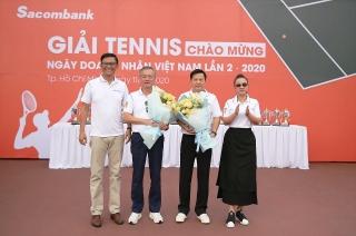 Sacombank tổ chức giải tennis chào mừng ngày Doanh nhân Việt Nam năm 2020