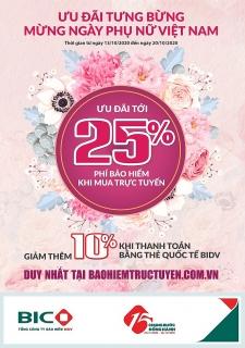 Ưu đãi tưng bừng mừng ngày Phụ nữ Việt Nam