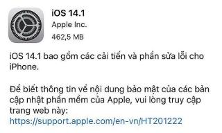 Apple phát hành iOS 14.1 sửa nhiều lỗi