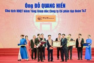 Doanh nhân Đỗ Quang Hiển được trao tặngHuân chương Lao động hạng Nhất