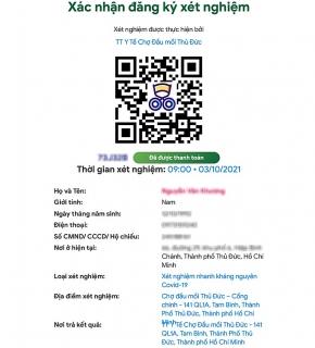 Cách đăng ký và nhận kết quả xét nghiệm Covid-19 trực tuyến