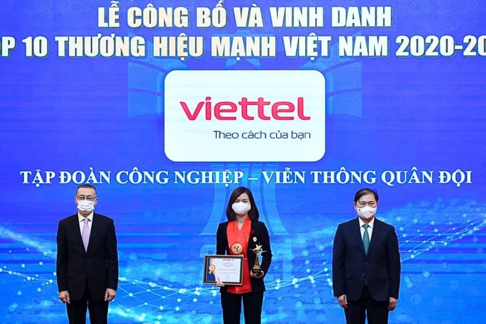 viettel duoc cong nhan la thuong hieu hang dau cua viet nam