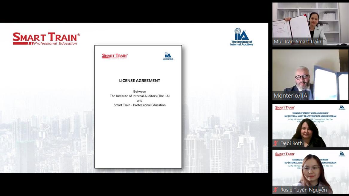 Smart Train hợp tác với Mỹ đào tạo chứng chỉ kiểm toán nội bộ nền tảng IAP