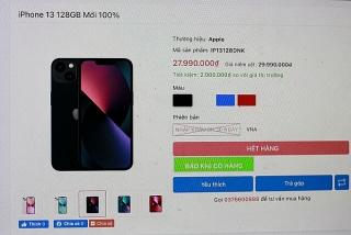 iPhone 13 xách tay dần vắng bóng