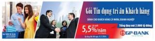 Gói tín dụng 2000 tỷ, lãi suất ưu đãi chỉ từ 5,5%/năm của GPBank