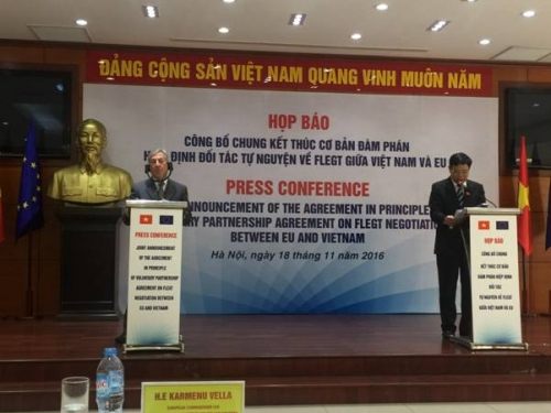 Đạt thỏa thuận trên nguyên tắc đối với hiệp định FLEGT VPA